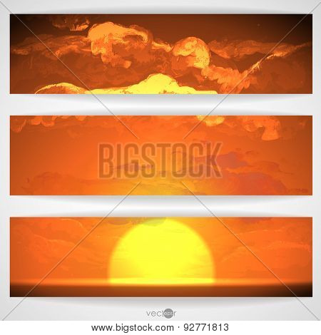 Sunset, Sunrise With Clouds