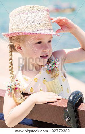 Summer Portrait Of A Little Girl