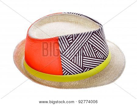 Hat With A Brim Isolated On White