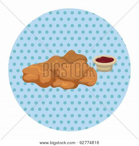 Fried Foods Theme Chicken Nuggets Elements