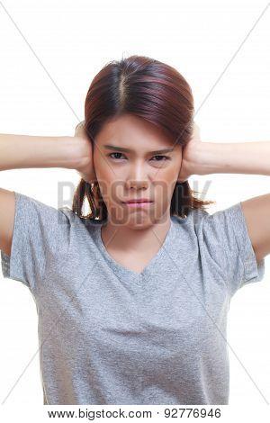 Woman Ear Ache