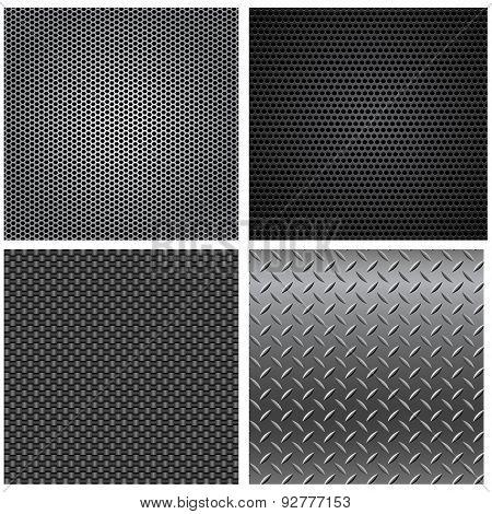 Metal Textures Seamless Patterns