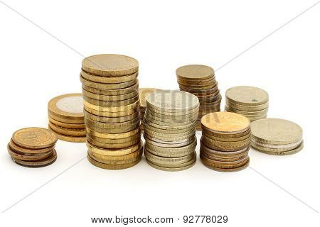 Several Towers Of Different Coins