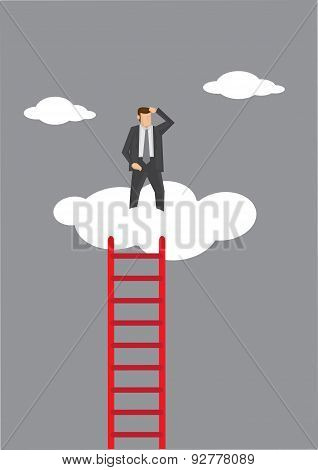 Lonely At The Top Vector Illustration