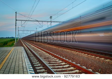 Railroad Travel And Transportation Industry Business Concept