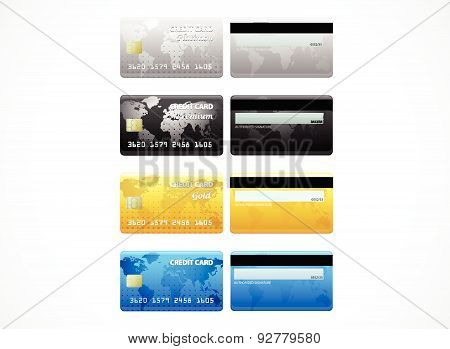 Collection of credit cards