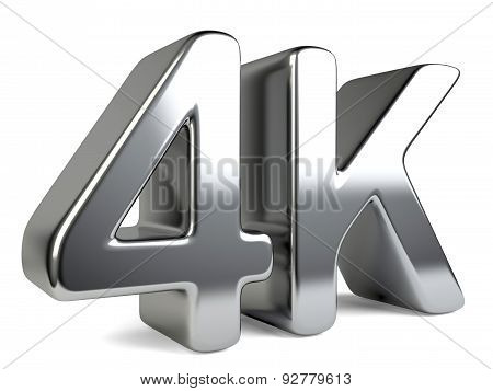 4K Ultra High Definition Television Technology Symbol.