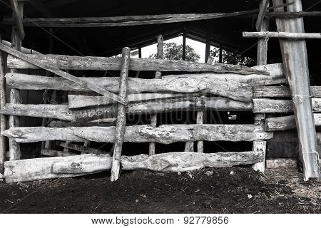 Black And White Animal Rearing House
