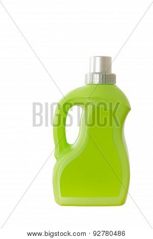 Green plastic container isolated on white
