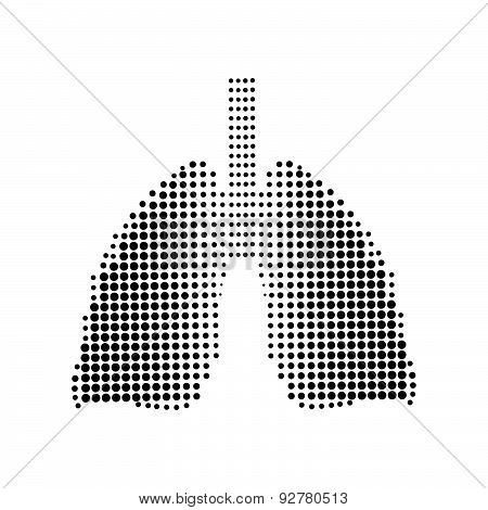 Lungs black icon