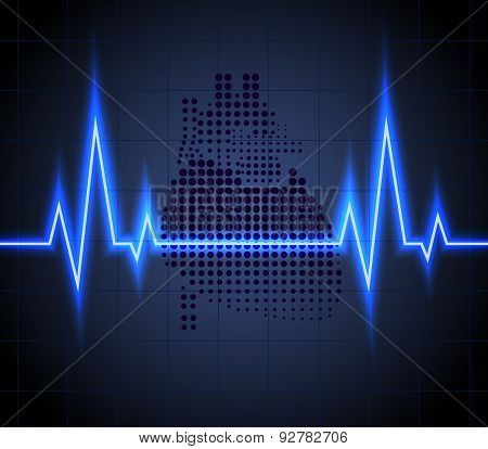 Heart beats on Healthcare and icon heart