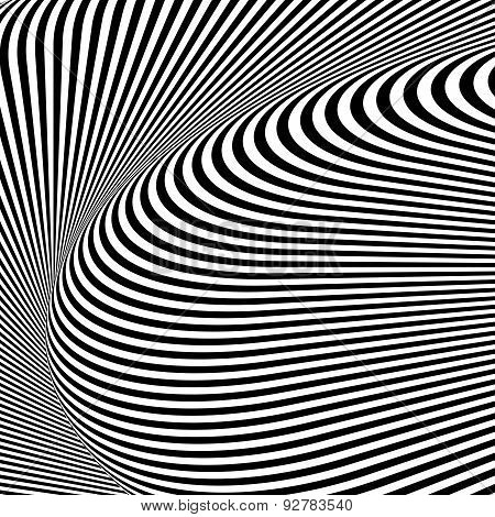 Design Monochrome Textured Illusion Background