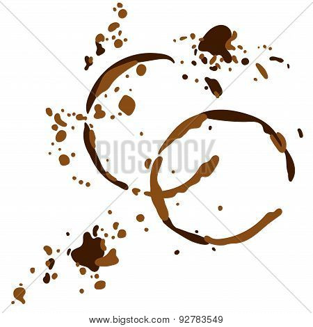Coffee stains. Vector illustration