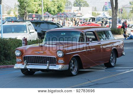 Chevrolet Bel Air Nomad Station Wagon Car On Display