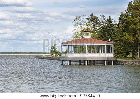 A Bandstand Pavilion At Haapsalu Town Seaside Promenade