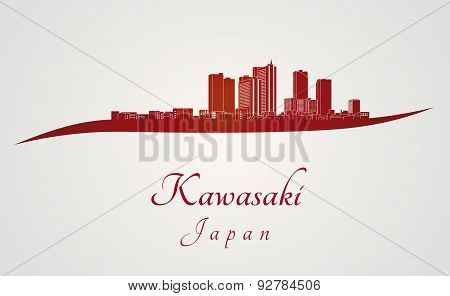 Kawasaki Skyline In Red