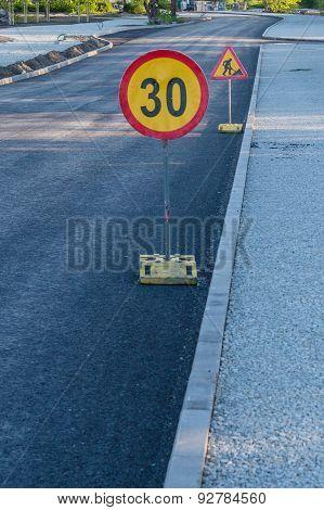 Road Work Ahead Signs