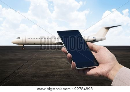 Cellphone Holding At Airport