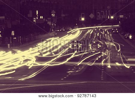 Street Of Kyiv At Night