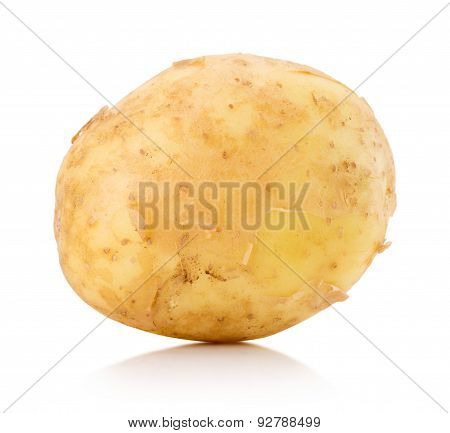 Young Potato Isolated On The White Background