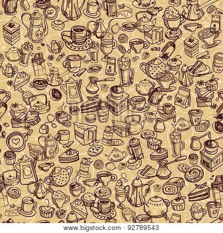 Hand Drawn Coffee Pattern