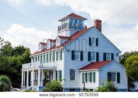 Coastal Home With Dormers And Widows Walk