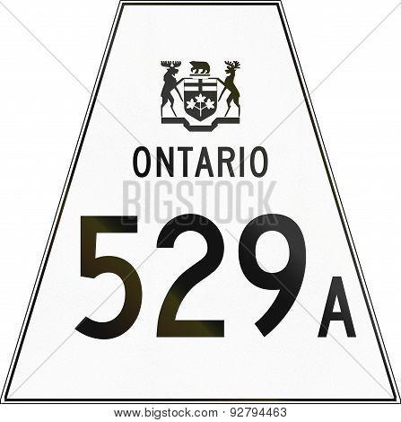 Ontario Highway Shield 529A