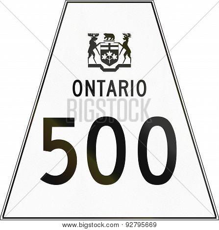 Ontario Highway Shield 500