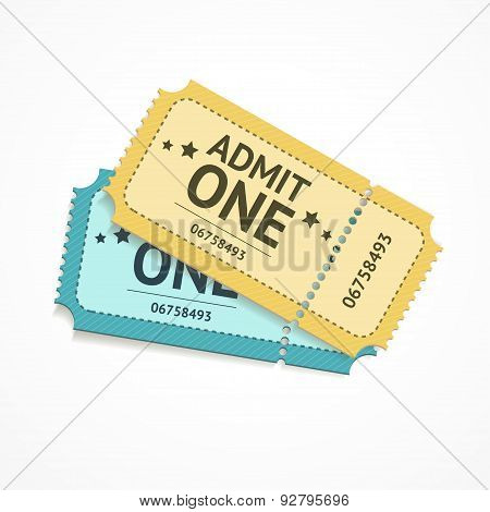 Vector two colour ticket