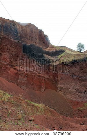 Racos extict volcano - old mining site an geological park