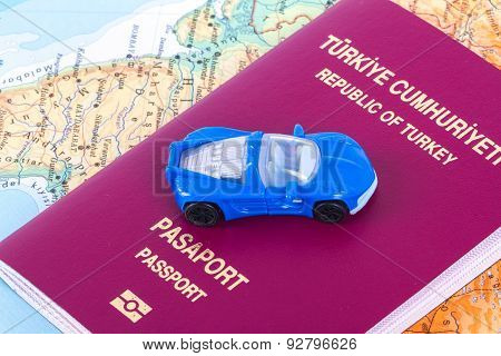 Passport With Toy Car
