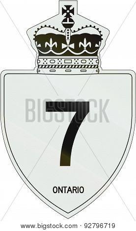 Ontario Highway Shield 7