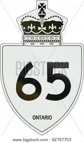 Ontario Highway Shield 65