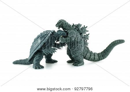 Godzilla Vs Gamera Death Battle Figure.