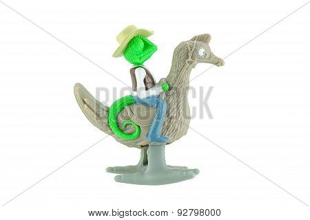 Rango A Chameleon Ride An Ostrich Toy