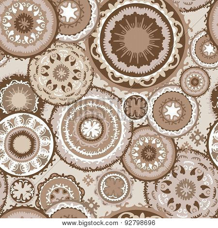 Morocco Pattern in Coffee Colors