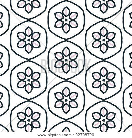 Primitive Simple Retro Seamless Flower