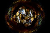 foto of fiery  - Beautiful bstract fiery circle on a black background - JPG