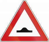 foto of bump  - Czech sign indicating speed bumps on the road - JPG