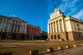 picture of neo-classic  - Party House in architectural ensemble of three Socialist Classicism edifices in central Sofia - JPG