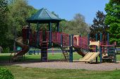 image of playground  - A kids playground with a colorful play scape - JPG