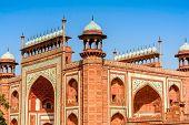 stock photo of india gate  - The Gate in Taj Mahal Agra - JPG