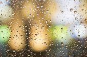 pic of raindrops  - raindrops on the glass - JPG