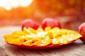 picture of oats  - Sliced fruits arrangement - JPG