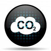 foto of carbon-dioxide  - carbon dioxide icon co2 sign - JPG