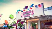 pic of neon green  - Cotton Candy neon sign at Fair in Mineola New York on the summer season - JPG