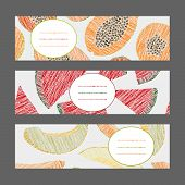 foto of pawpaw  - Horizontal Fruit Banner Set - JPG