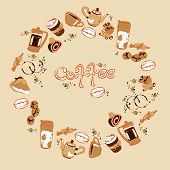 Постер, плакат: Coffee Vector illustration with objects coffee theme