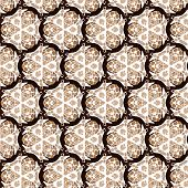pic of primitive  - Primitive simple retro seamless pattern with lines and circles - JPG