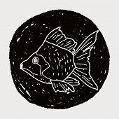 image of goldfish  - Goldfish Doodle - JPG